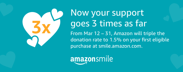 Support us by shopping at smile.amazon.com