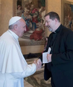 Fr. Paul Mueller, S.J. with Pope Francis