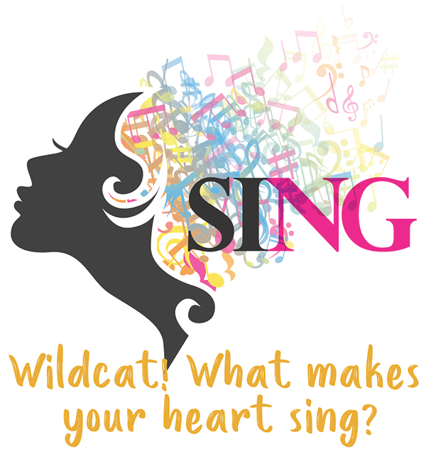 Wildcat, what makes your heart sing? Fashion show logo.