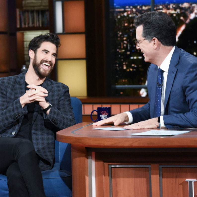 "Darren Criss on ""The Late Show with Stephen Colbert"""