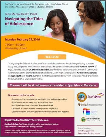Flyer for Navigating the Tides of Adolescence