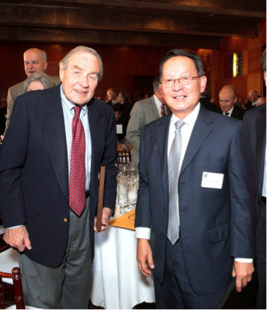 Hon. Eugene F. Lynch (Ret.) '49 (on the left) and Associate Justice Hon. Ming William Chin
